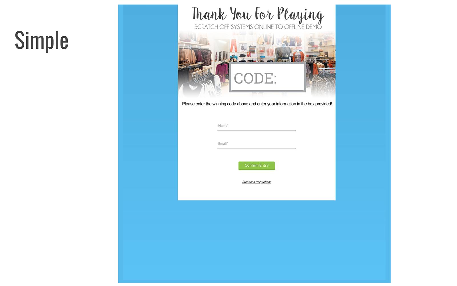 offline online example simple