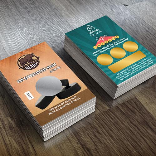 Custom Scratch Card Printing - Scratch Off Cards, Tickets